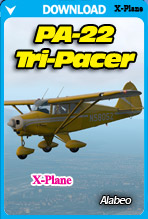 ✉ Private Flights Addon, PA22 TriPacer for X-Plane, 2 New